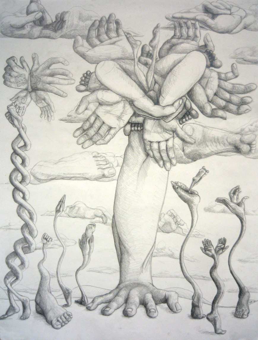 Surrealism Hands Drawing Hands And Feet Study