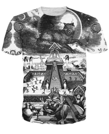 Grande Temple Tshirt by Larry Carlson